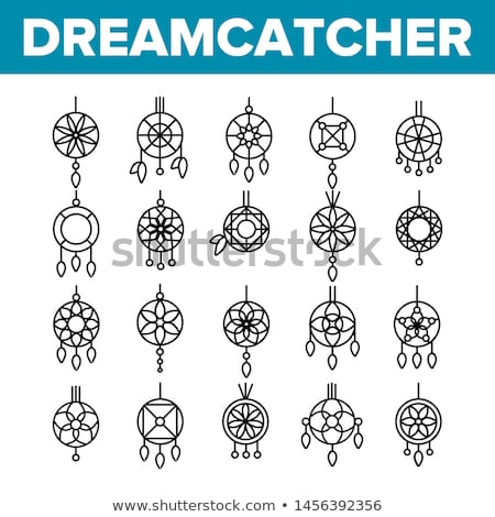 Indian with dreamcatcher Stock photo © adrenalina