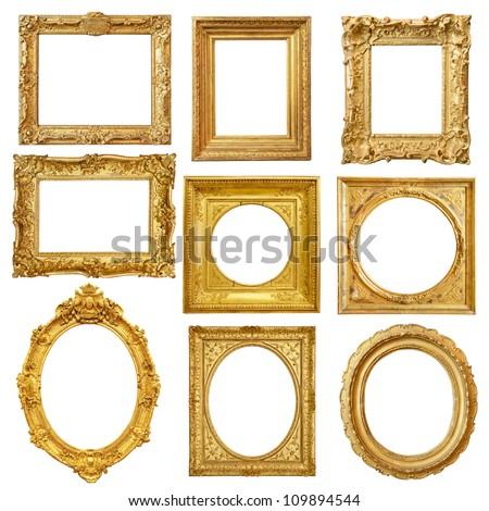 Old wooden gilded Frame Stock photo © smuki