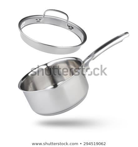 stainless pan isolated on a white Stock photo © ozaiachin