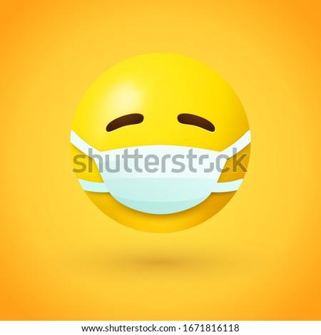 Enfermera cara emoción icono ilustración signo Foto stock © kiddaikiddee