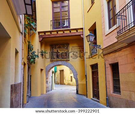 Stock fotó: Valencia · porta · ív · épület · művészet · vakáció