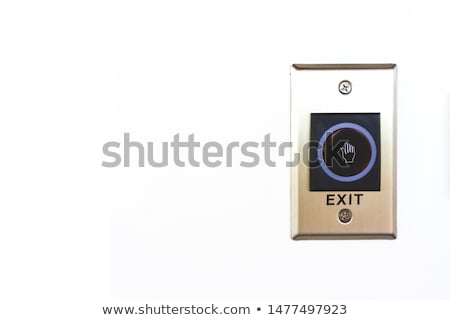終了する ボタン 実例 白 背景 赤 ストックフォト © bluering