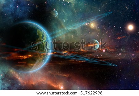 A planet in the outerspace Stock photo © bluering