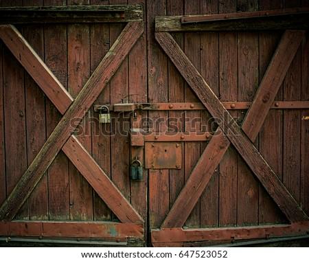 trancado · cerca · porta · segurança · chave - foto stock © digifoodstock