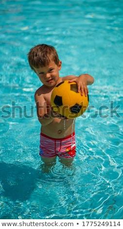 A boy in deep water Stock photo © bluering