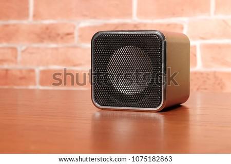 Fejhallgató hangfal fekete terv technológia hangszóró Stock fotó © hamik