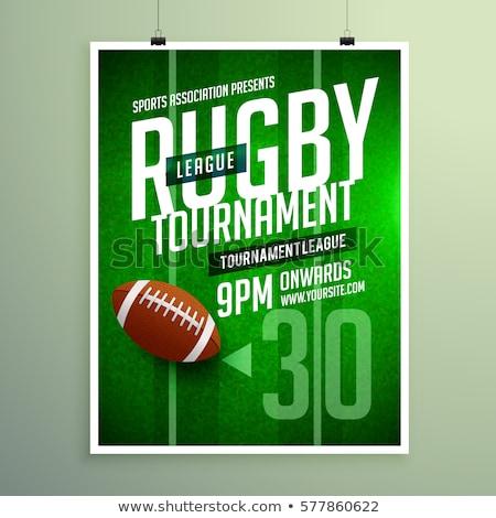 Rugby liga jogo aviador projeto convite Foto stock © SArts