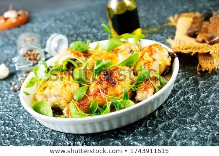 Tavuk bacak güveç akşam yemeği zeytin Stok fotoğraf © M-studio