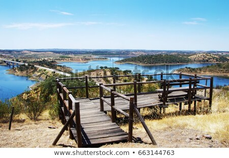 Ponte lago regione Portogallo cielo costruzione Foto d'archivio © inaquim