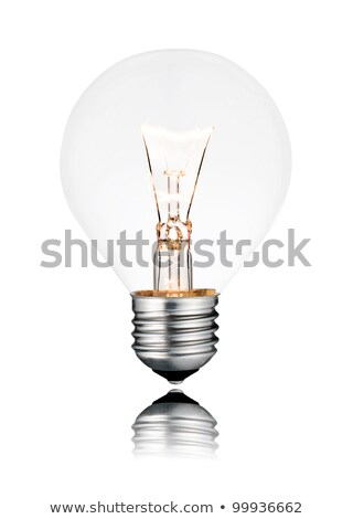 Round light bulbs on a gray background Stock photo © blackmoon979