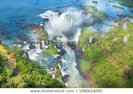 Parc tropicales cascades forêt tropicale paysage blanc noir Photo stock © daboost