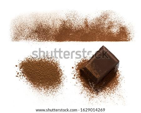 çikolata kapalı karanlık toz Stok fotoğraf © deandrobot