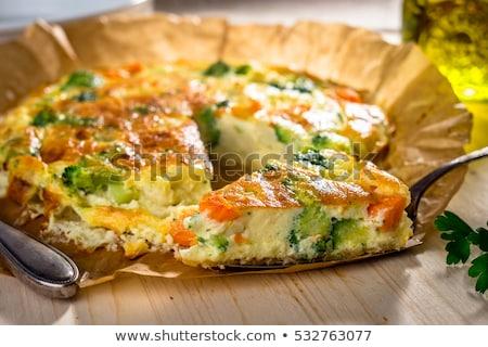 Domowej roboty warzyw pie proste por cebula Zdjęcia stock © mpessaris