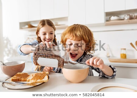 Stock photo: Children fooling around