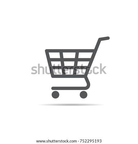 prata · metálico · ilustração · carrinho · de · compras · objeto · carrinho - foto stock © get4net
