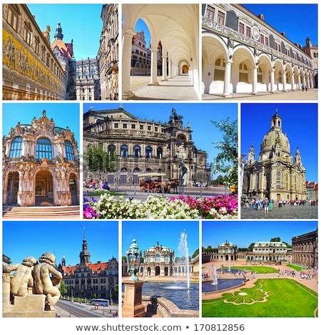 dresden zwinger archs in saxony germany stock photo © lunamarina