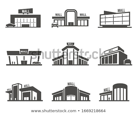 Shopping Mall Isolated on White Vector Supermarket Stock photo © robuart