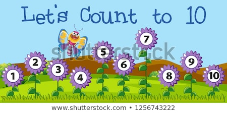10 scène illustration enfant éducation bleu Photo stock © bluering