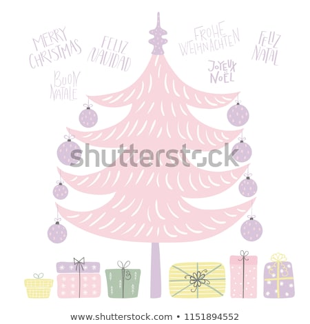 Portuguese Christmas card of gift and xmas objects Stock photo © cienpies