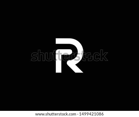 geometric letter r logo symbol vector icon Stock photo © blaskorizov