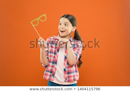 happy kids with party props at summer birthday stock photo © dolgachov
