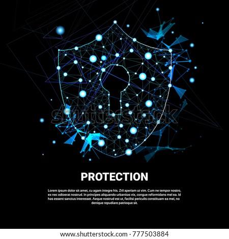 Privacidade proteção azul moderno vetor ilustração Foto stock © tashatuvango