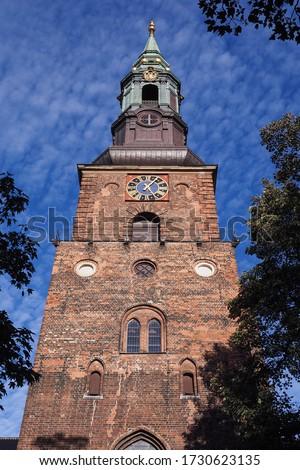 Kilise Kopenhag topluluk Danimarka Bina merkezi Stok fotoğraf © borisb17