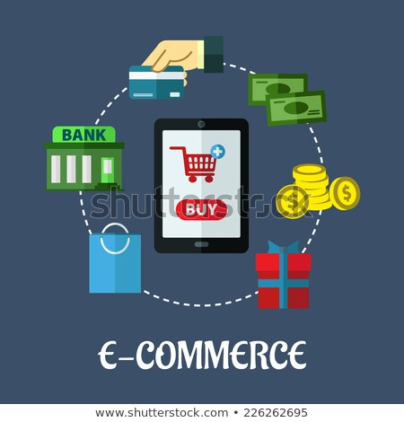 Mobilephone Showing Online Payment Option Stock photo © AndreyPopov