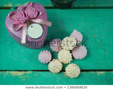 Vak vorm hart steen liefde achtergrond Stockfoto © masay256