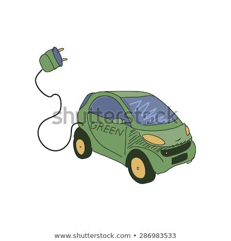 Photo stock: Cartoon · couleur · électriques · voitures · illustration