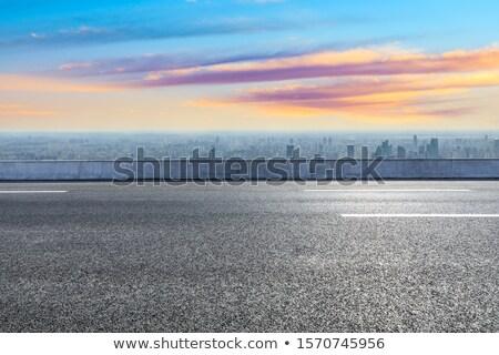 Lege asfalt snelweg weg landschap Stockfoto © tarczas
