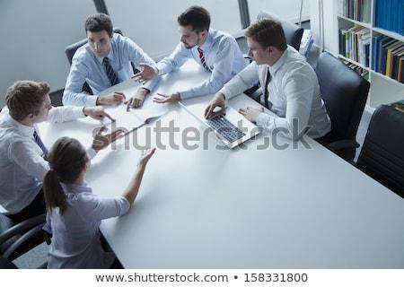 Elöl kilátás fiatal több nemzetiségű üzletemberek ül Stock fotó © wavebreak_media