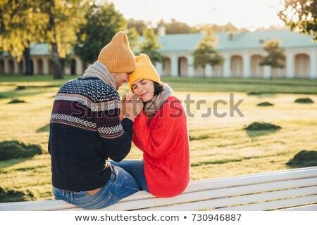 Sentimenti adorabile maglia giallo Hat Foto d'archivio © vkstudio