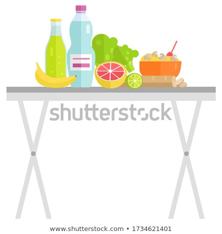 Food and Drink on Table, Garage Sale, Meal Vector Stock photo © robuart
