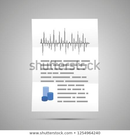 Ciência relatório complicado gráficos tamanho documento Foto stock © evgeny89