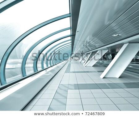 Futurista interior moderno shopping verde plantas Foto stock © vapi