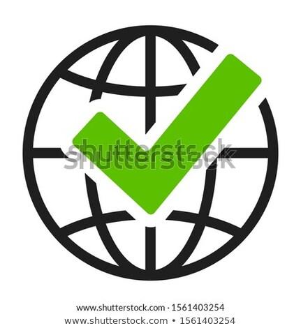 Bilgisayar dünya çapında ücretsiz gönderim logo örnek Bina Stok fotoğraf © bluering