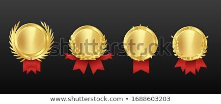 Stock fotó: Egyszerű · piros · üres · fóka · medál · szalag