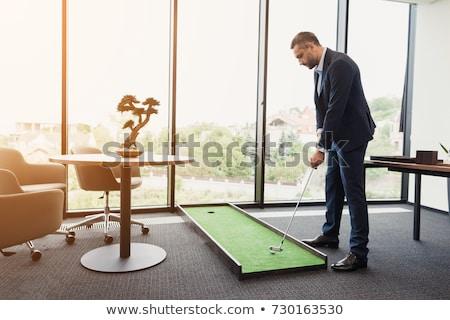 Golfista oficina 3D pequeño humanos carácter Foto stock © JohanH
