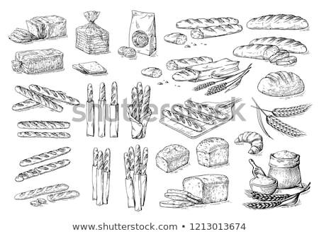 Geschnitten Laib einfache Brot seicht Stock foto © danielgilbey