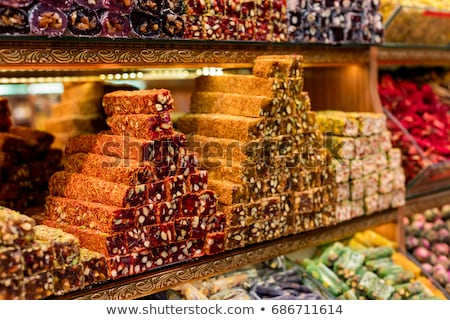delicious assortement of sweets on market Stock photo © juniart