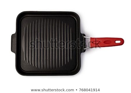 square grill pan isolated on white background stock photo © ozaiachin