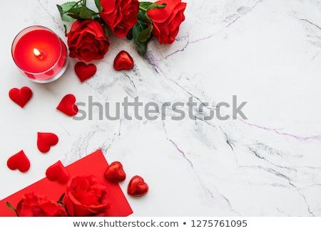 Sevmek mumlar harfler kırmızı mum Stok fotoğraf © cobaltstock