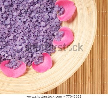 Stock photo: different colours of bath salt
