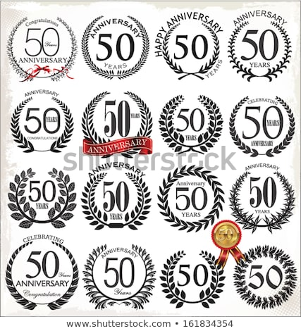 50 year old medal isolated stock photo © michaklootwijk