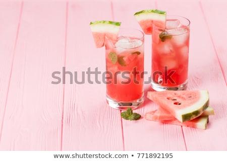 görögdinnye · koktél · üveg · piros · dzsúz · desszert - stock fotó © M-studio