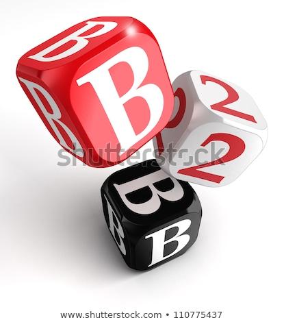 B2b dobbelstenen teken business Stockfoto © stuartmiles