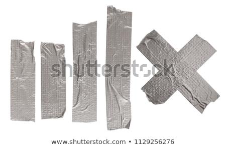 Ragasztószalag fotó fehér munka terv szövet Stock fotó © Marfot