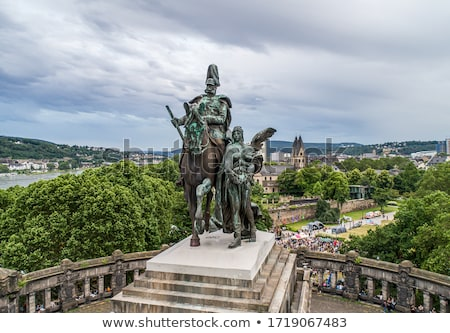 Monument to Kaiser Wilhelm I in Koblenz Stock photo © chrisdorney