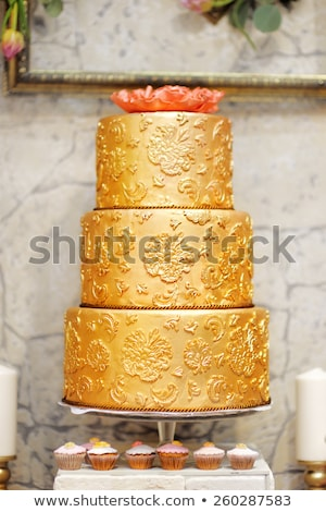 big golden cake stock photo © bigknell